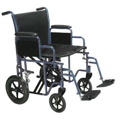 Drive Medical Bariatric Heavy Duty Transport Wheelchair with Swing-away Footrest