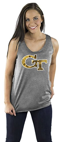 - Gameday Couture NCAA Georgia Tech Womens Team Color Triblend Racerback Tank, Medium, Grey