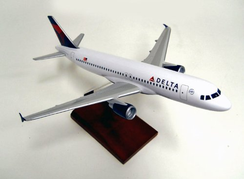 (A320 Delta Quality Desktop Model Commercial Plane 1/100 Scale / Unique and Perfect Gift Idea / Museum Quality Handcrafted Commercial Passenger Jet Airliner Replica Display / Collectible Gift Toy)