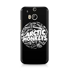Arctic Monkeys Cigarettes Circle Logo Hard Plastic Snap-On Case For HTC One M8