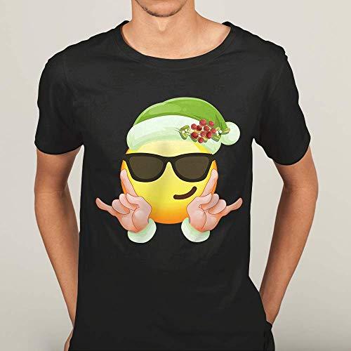Elf Emoji Sunglasses Smiley Christmas Elf Matching Family Costume Customized Handmade T-Shirt Hoodie/Long Sleeve/Tank Top/Sweatshirt ()