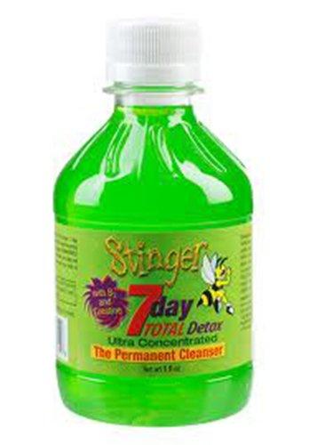 Bundle - Stinger Total Detox Green + Stinger Folli-kleen Intense Hair Cleanser Detox Shampoo + Stinger Mouthwash with Free I'm Baked Bro & Doob Tubes Sticker