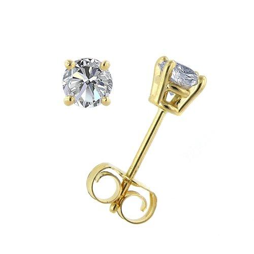 Shape Diamond Gold j Amazon 14k Round I Collezione xZpwIOBqH