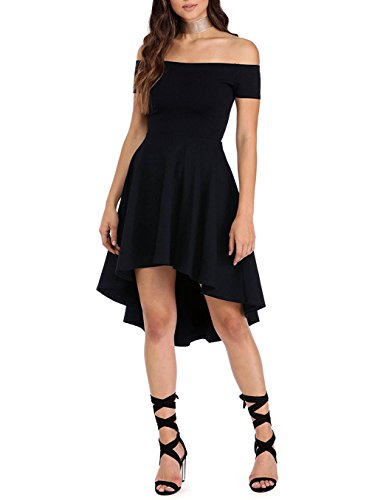 Valentine Off-Shoulder Black Dresses