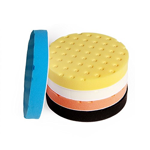 Fontic deals Pad Buffing Foam Sponge Buffing Polishing Pad Kit Set For Car Polisher Sanding Polishing Buffing,Multi-ColorX5 PCS 7Inch by Fontic (Image #3)