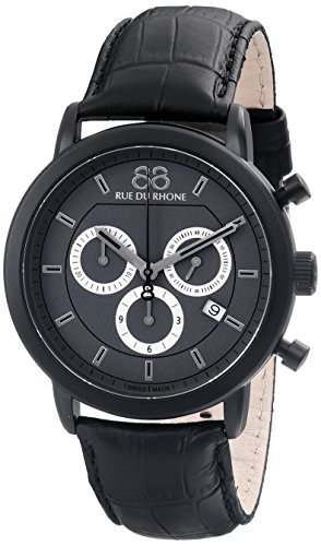88-Rue-du-Rhone-Mens-87WA130017-Analog-Display-Swiss-Quartz-Black-Watch