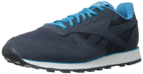 Reebok Sneakers Tech Cuir Cl Chaussures Mens Nouveau / Afficher La Marine Reebok / Bombe Bleu / Blanc
