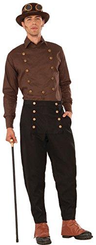 Mens-Brown-Steampunk-Shirt