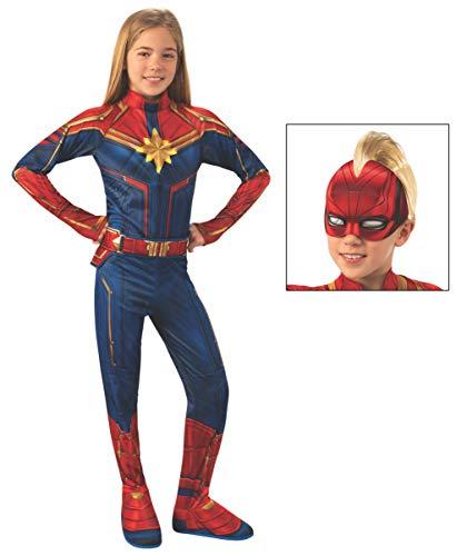 Marvel: Captain Marvel Child's Deluxe Light-Up Costume, Medium -