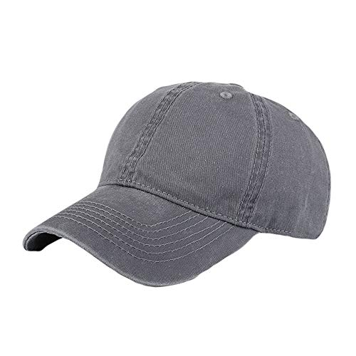 XOWRTE Unisex Women Men Adjustable Solid Baseball Hat Shade Cap