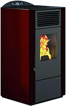 Eva Calor–Estufa de pellets Lory. Potencia térmica 9kW. Color rojo