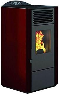 Eva Calor – Estufa de pellets Lory. Potencia térmica 9 kW. Color rojo