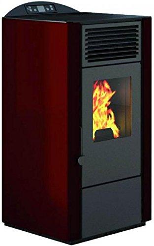 Eva Calor - Estufa de pellets Lory. Potencia térmica 9 kW. Color rojo: Amazon.es: Bricolaje y herramientas