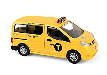 7c9ec06a2a388 NYC New York City Taxi Cab Nissan NV200 1:64 Scale Diecast