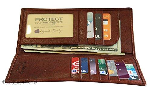 Osgoode Marley RFID Secretary Mens Coat Pocket Leather Wallet - Brandy (Leather Marley Pocket Osgoode)