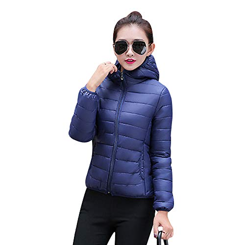 Zip Fit Up Jackets Winter Jacket Blue Dark Short Coats Thicken YIHIGH Outwear Slim Overcoat Hooded Women Ladies Warm Fashion Down 8SEEqx5p