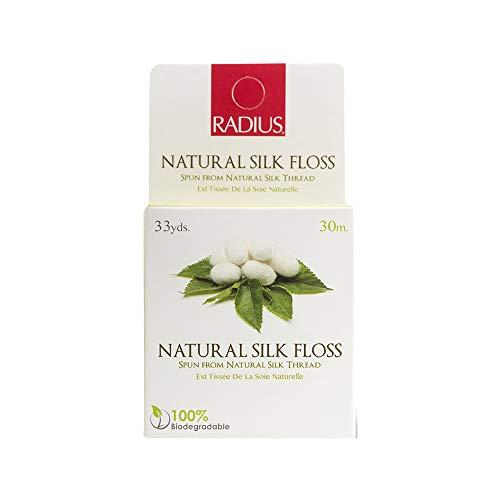 (RADIUS Natural Silk Floss, Waxed, Round, Natural , 33-Yards (Pack of 6))