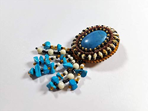 - Sonoran Sunset Turquoise Brooch