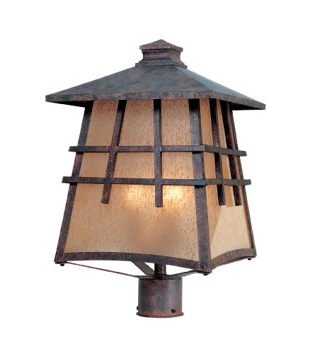 Designers Fountain 30726-MP Oak Park Post Lanterns, Mediterranean Patina by Designers Fountain