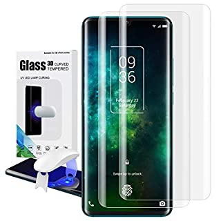 Feitenn TCL 10 Pro Tempered Glass, TCL 10 Pro Screen Protector, Fingerprint Sensor 3D Liquid Transparent Clear Curved Case Friendly 9H Definition Anti-Scratch Protector for TCL 10 Pro 6.47'' - 2 Pack