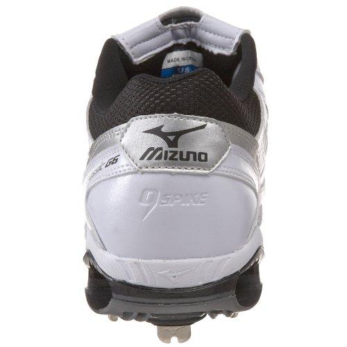 Mizuno Herren 9-Spike Classic G6 Low Switch Baseballschuh Weiß schwarz