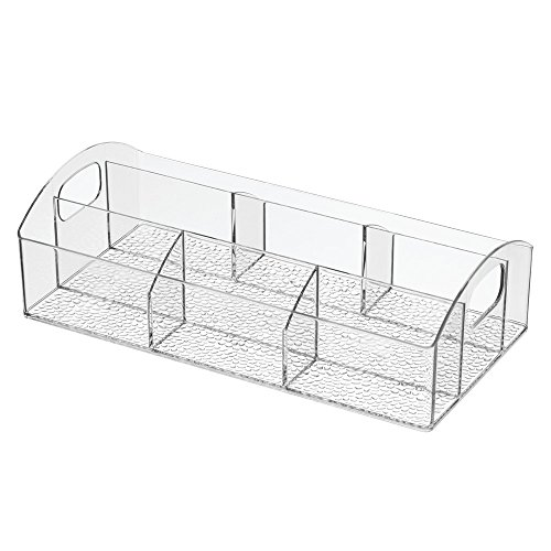 Interdesign Med    Makeup And Medicine Cabinet Catch All Organizer   Clear   12 X 6 X 3 5 Inches
