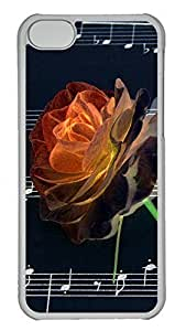 Lovely Rose s.Cases Case For Iphone 5C CoverUnique Cool Hard Transparent Mobile Phone Protecting Shell