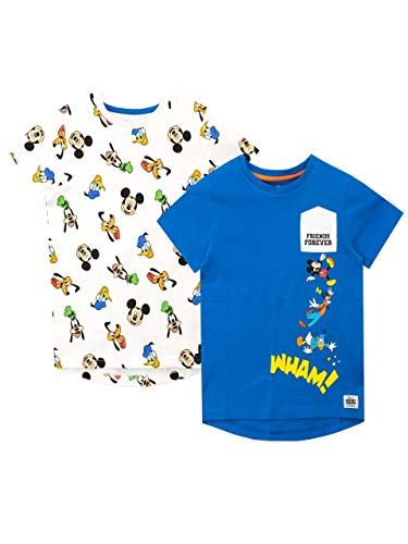 Disney Jongens Mickey Mouse T-Shirt 2 Stuks
