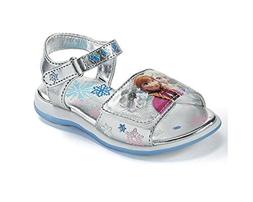 Disneys Frozen Anna & Elsa Toddler Girls Light-up Sandals