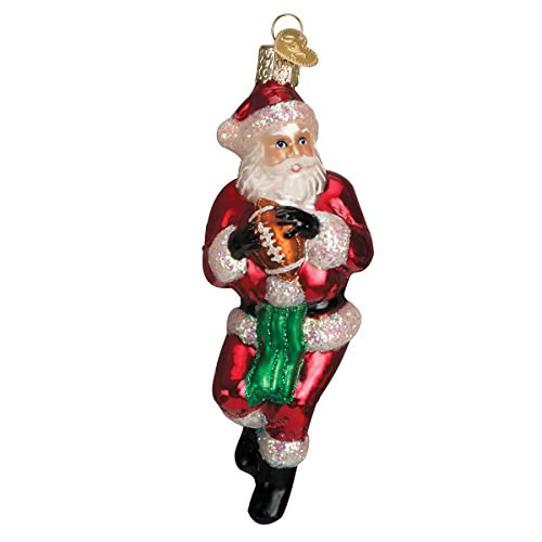 Old World Christmas Quarterback Santa Glass Blown Ornament by Old World Christmas