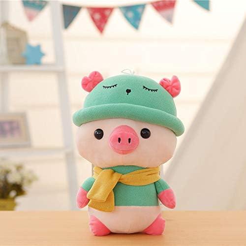 正規品保証 ぬいぐるみ、抱き枕 ぶた 豚 ぬいぐるみ 抱きまくら 動物 もちもち ふわふわ おもちゃ お誕生日プレゼント 子供へ 彼女彼氏へ 縫い包み バレンタインデー ホワイトデー クリスマス ギフト お祝い(7歳以上に適しています) (緑, 35cm)