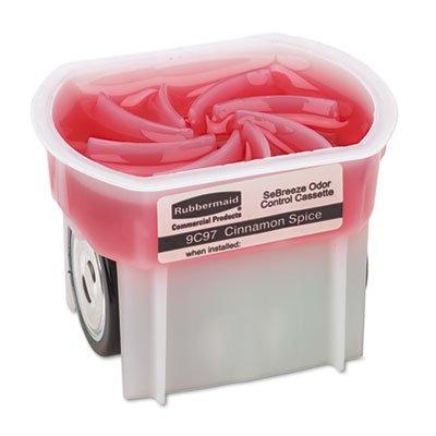 Rubbermaid Commercial 9C9701 SeBreeze 9c90 Fragrance Cassettes, Cinnamon Spice, Gel.1oz, 6/Carton