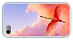 Hipster for cheap iPhone 4 case roseate spoonbill TPU White for Apple iPhone 4/4S