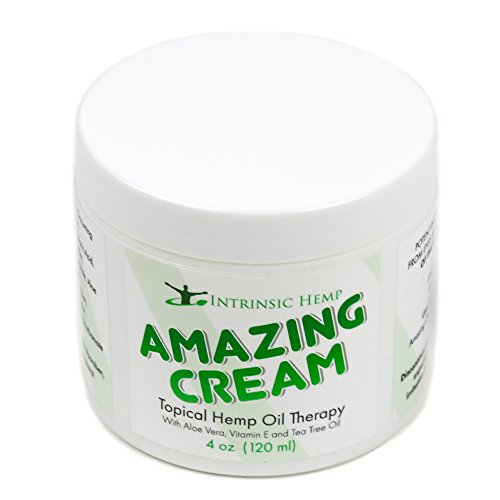 Organic Hemp Pain Relief Cream for Neck, Knee, Joint, Arthritis, Carpal Tunnel, Fibromyalgia, Inflammation and Sore Muscles. Hemp Extract Muscle Rub and Hand Cream by Intrinsic Hemp