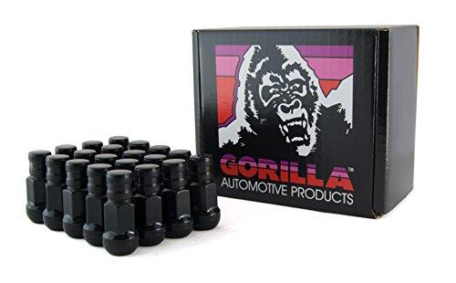 Gorilla Automotive 45138HBC-20 ブラックボールシートラグナット (鍛鋼 ホンダ/アキュラ 12mm x 1.50 スレッドサイズ 20個パック)