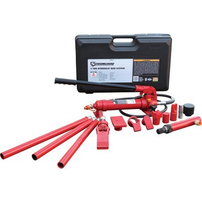 17-Pcs. 4 Ton Capacity Strongway Hydraulic Portable Ram Kit