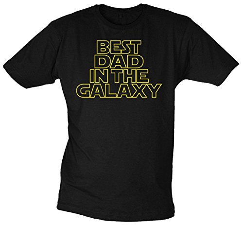 Close Up Best Dad in The Galaxy T-Shirt, Aus Baumwolle in Schwarz, M, L, XL, XXL