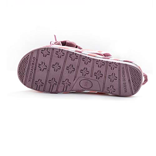 Basso A Pantofole nbsp;in Alto Di Pantofole Yangyongli nbsp;cotone 40 La Tacco Moda Scarpe purple Comprare Bella Casa Blue Striscia Spessore Palla qPpyE8