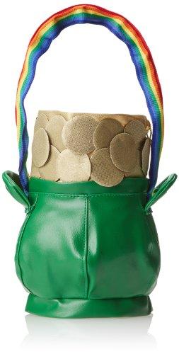 Pot Of Gold Halloween Costume (Rasta Imposta Pot Of Gold Handbag, Green, One)