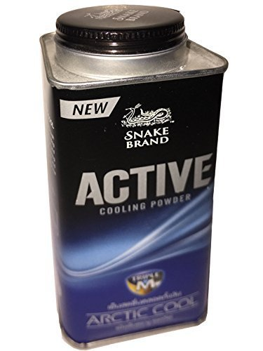 Snake Brand Prickly Heat New Active Cooling Powder Arctic Cool 140 ()