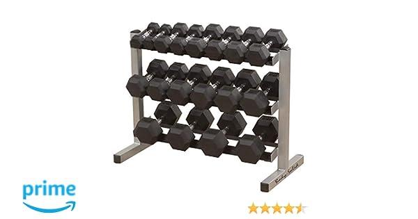 Body Solid mancuerna Rack, 3 Niveles: Amazon.es: Deportes y aire libre