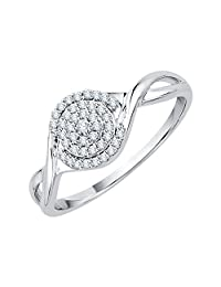 KATARINA Diamond Cluster Ring in 10K Gold (1/6 cttw, I-J, I1)