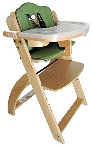 Beyond Junior Y Series High Chair, Natural/Olive Green