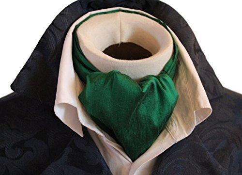 Elegantascot Men's Handmade Day Cravat Pure Dupioni Silk Ascot Tie ()