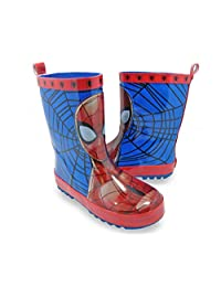 Marvel Spider-Man Boys Youth Superhero Rubber Rain Boots Blue