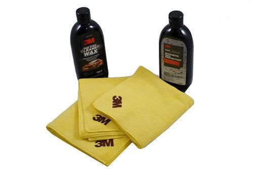 3M Cleaner Wax (16oz), Synthetic Wax (16oz) and Microfiber Towels(3)