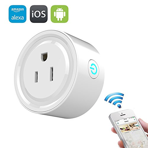 Price comparison product image Wifi Smart Plug, Mengyasi Mini Smart Socket Works with Amazon Alexa with Timing Function, Switch On/Off your Electric Equipment from Anywhere via Smartphone or Tablets, No Hub Required
