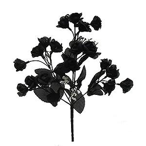 "14.5"" Mini Open Rose Bush Artificial Silk Wedding Bridal Craft Bouquet Flowers 5 Stems 20 Roses 24"