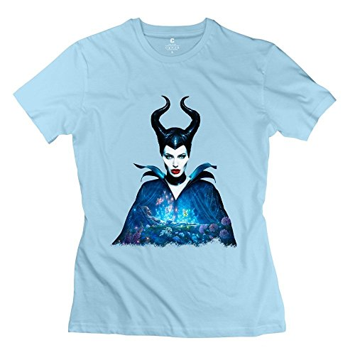 Pill Beats Costume (Women's Maleficent Costume Screw Neck Tshirts Size L)