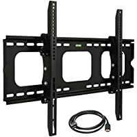 Mount-It! MI-303B Premium Tilting TV Wall Mount Bracket for 32 - 60 inch LCD, LED, or Plasma Flat Screen TV - Super-strength Load Capacity 175 lbs - 15 Degree Tilt Mechanism Up & Down, Max VESA 600x400